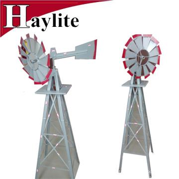 Moinho de vento decorativo do jardim de metal cinzento de 8FT