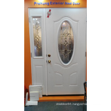 Tempered Frosted Glass Shower Steel Door