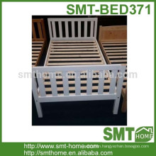 Latest cheap white wooden single lowes bed frame