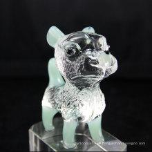 Широко используются высококачественные граненые понятно, собака Кристалл Украшения для Дня Рождения