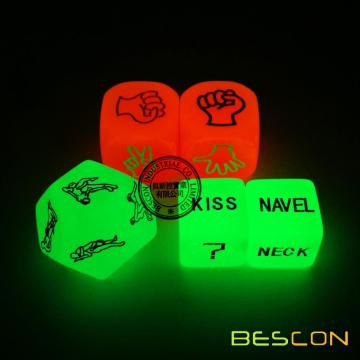 Love Dice Lover Sex Position Luminous Dice Set pour les couples adultes Dirty Dice Game Adult Fun Jeux Sex Toy