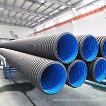 HDPE corrugated drainage pipe used under driveway