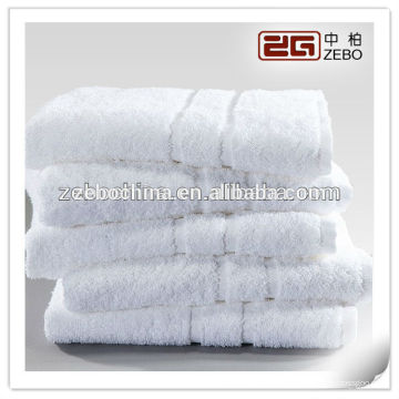 Toalha de banho de algodão 100% Hotel ou Spa Toalha de logotipo branca personalizada