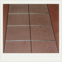 Stainless steel perforated baked / baking tray used in the oven