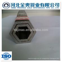 China fabricante tubo de aço hexagonal oca / tubo