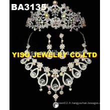 Ensemble de bijoux en cristal personnalisé