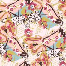 Hochwertige 100% Seide Digital Textile Printing Silk Fabric (TLD-0065)