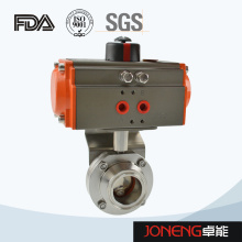 Stainless Steel Food Processing Clamped Pneumatic Butterfly Valve (JN-BV1010)