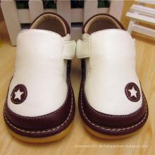 T Strape Baby Boy Schuhe Squeaky Schuhe Weiß Schwarz