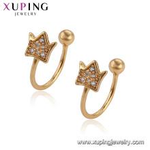 95795 Xuping Jewelry belle conception tendance boucles d'oreilles en forme de couronne pour les dames