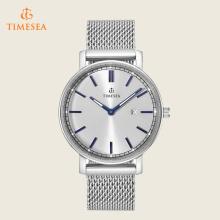 Reloj de cuarzo de malla casual con reloj de pulsera para hombre con calendario 72392