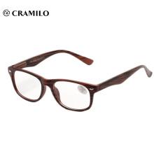 Classic fashionable wood grain reading glasses meet CE.FDA