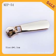 MZP54 Custom blank logo doublure en métal à fermeture éclair pour sacs d'affaires