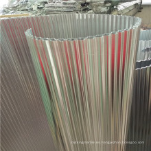 Coronas de aluminio corrugado