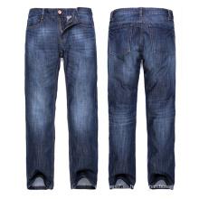 Jeans básicos al por mayor de los hombres Jeans azules del algodón del dril de algodón