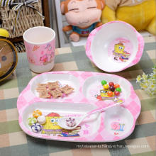 (BC-MK1013) Fashinable Design Reusable Melamine 4PCS Kids Cute Dinner Set