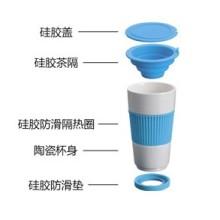 Porzellan-Becher mit Tee Trichter