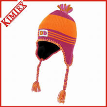 Inverno personalizado acrílico Knit Hat com Earflap