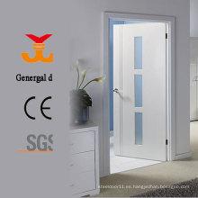 Puertas de vidrio lacado blanco de madera