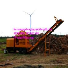 Trituradora móvil del triturador del tocón de árbol del motor diesel Trituradora de madera de la trituradora