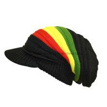 Forme a invierno la señora caliente Acrylic hizo punto el sombrero / el casquillo del cráneo de la gorrita tejida