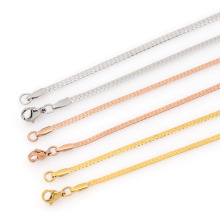 Different types of gold necklace chains jewelry designs girls, germanium necklace in stainless steel
