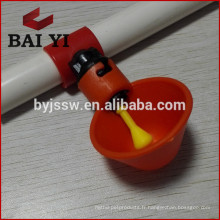 Nouveau buveur de mamelon de volaille de conception (bol d'eau rouge)