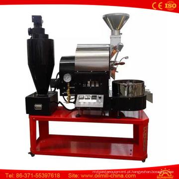 Torrador de café pequeno quente da máquina do torrificador de café do gás da venda 1kg