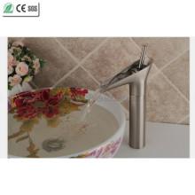 Brosse Nickle laiton théière cascade bassin robinet (Q13808HS)