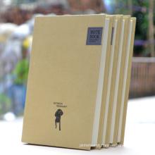 Notebook de papel personalizado personalizado Kraft Hardcover