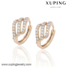23016-Xuping Jewelry New Design Gold Plated Earring with Zircon