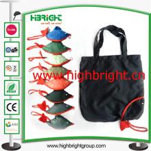 La mano plegable de la tela de poliéster lleva la bolsa de asas