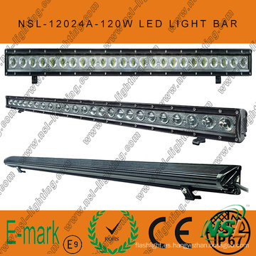 IP67, barra de luces LED todoterreno de 120W, Spot / Flood / Combo 24PCS * 5W Barra de luces LED todoterreno Creee