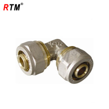 brass double elbow compression tubing fittings