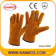 Промышленная безопасность Коричнево-коричневые сплит-рукавицы Кожаные рабочие перчатки (11201)