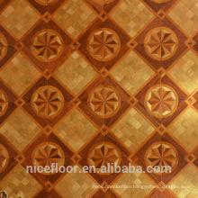 Layered solid wood parquet flooring N35PEAR FLOWER PARQUET FLOOR OAK