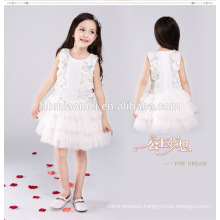 White color western party wear knee length ball gown dress for girl 13 year