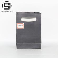 Black die cut handle packing paper party bags