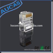Aucas quality rj45 modular plug for networking cable plug terminator