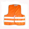 Chaleco de seguridad Orange Roadway con dos rayas reflectantes