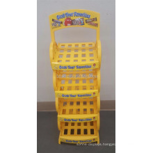Yellow Powdered Custom Multi-Layer Snack Food Store Cotton Candy Chocolate Bar Box Display Stand