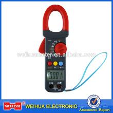 Pinza amperimétrica digital WH823 con prueba de capacitancia Retroiluminación Zumbador Datos de temperatura Espera Frecuencia Ciclo de trabajo