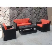 Outdoor Wicker Simple Design Sectional Fabric Sofa 1 Set