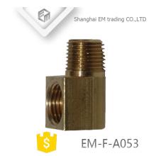 EM-F-A053 latão rosca macho união grossa tubo de cotovelo conector rápido