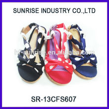 SR-13CFS607 zapato plano de la sandalia 2012 La última sandalia del verano de la manera para las muchachas vende al por mayor Sandalias de los cabritos para las muchachas