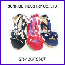 SR-13CFS607 2014 flat sandal shoe Latest Fashion summer sandal for girls wholesale Kids sandals for girls