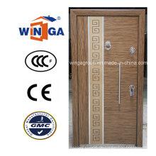 Türkei-Art-gute Qualität MDF-Stahl-hölzerne gepanzerte Tür (W-T25)