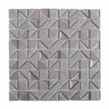 Soulscrafts Gray Glass Mix Stone Mosaic Tiles for Backsplash