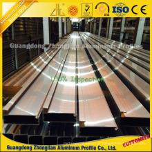 Quadro de alumínio anodizado de alta qualidade para armários de cozinha