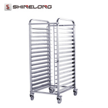 2017 National Standard Kitchen Food Meat Stainless Steel Food Trolley
